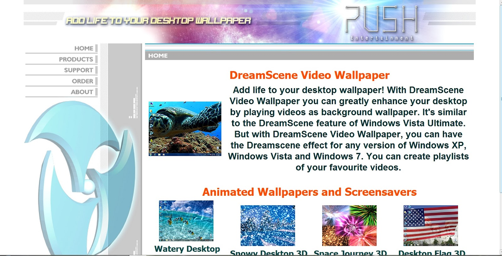 Pc Apps PUSHEntertainmentDreamSceneVideoWallpaper V223